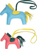 """Luxury Accessories:Accessories, Hermes Set of Two: Hermes Rodeo Charms. Condition: 1. 3.5"""" Width x 3"""" Height x .5"""" Depth. 4.5"""" Width x 4"""" Height x... (Total: 2 )"""