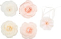 """Luxury Accessories:Accessories, Chanel Set of Five: White & Pink Flower Pins. Condition: 2. 3"""" Width x 3"""" Height. ... (Total: 5 Items)"""