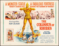 """The Colossus of Rhodes (MGM, 1961). Folded, Very Fine-. Half Sheet (22"""" X 28""""). Adventure"""