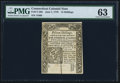 Colonial Notes:Connecticut, Connecticut June 7, 1776 15s PMG Choice Uncirculated 63.. ...