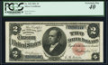 Large Size:Silver Certificates, Fr. 245 $2 1891 Silver Certificate PCGS Extremely Fine 40.. ...