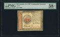 Colonial Notes:Continental Congress Issues, Continental Currency January 14, 1779 $45 PMG Choice About Unc 58EPQ.. ...