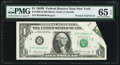Error Notes:Foldovers, Fr. 1905-B $1 1969B Federal Reserve Note. PMG Gem Uncirculated 65EPQ.. ...