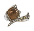 Estate Jewelry:Rings, Smoky Quartz, Colored Diamond, White Gold Ring, Stephen Webster....