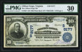 National Bank Notes:Virginia, Clifton Forge, VA - $10 1902 Plain Back Fr. 626 The Clifton ForgeNB Ch. # (S)9177. ...