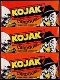 """Non-Sport Cards:Unopened Packs/Display Boxes, 1975 Holland """"Kojak"""" Unopened Boxes Lot of Three (3). ..."""