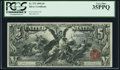 Large Size:Silver Certificates, Fr. 270 $5 1896 Silver Certificate PCGS Very Fine 35PPQ.. ...