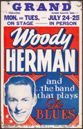 """Movie Posters:Musical, Woody Herman Live at The Grand (General Artists, 1950). Concert Window Card (14"""" X 22""""). Musical.. ..."""