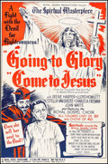 "Movie Posters:Black Films, Going to Glory, Come to Jesus (Toddy Pictures, 1946). Trimmed OneSheet (26.5"" X 40.5""). Black Films.. ..."