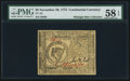 Colonial Notes:Continental Congress Issues, Continental Currency November 29, 1775 $8 PMG Choice About Unc 58EPQ.. ...