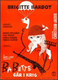"Babette Goes to War (Columbia, 1959). Danish Poster (24"" X 33.25""). Foreign"