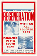 "Movie Posters:Black Films, Regeneration (Norman, 1923). One Sheet (28"" X 42""). Black Films....."