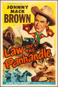 "Movie Posters:Western, Law of the Panhandle (Monogram, 1950). One Sheet (27"" X 41""). Western.. ..."