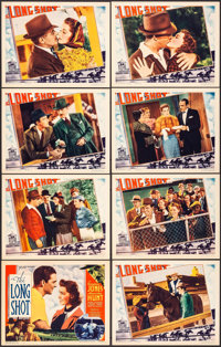 """The Long Shot (Grand National, 1939). Lobby Card Set of 8 (11"""" X 14""""). Sports. ... (Total: 8 Items)"""