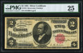 Large Size:Silver Certificates, Fr. 245 $2 1891 Silver Certificate PMG Very Fine 25.. ...