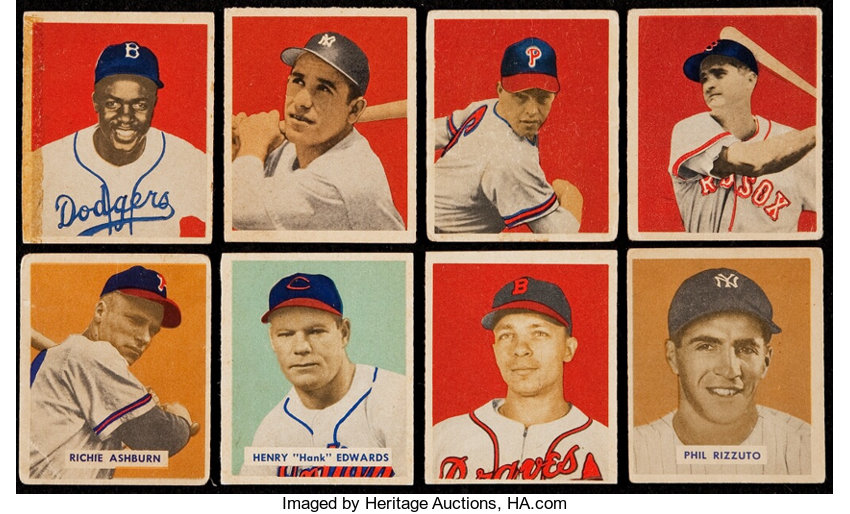 1949 Bowman Baseball Collection 71 Including Jackie