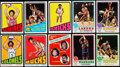 Basketball Cards:Lots, 1971 to 1973 Topps Basketball Collection (36) with ErvingRookie!...