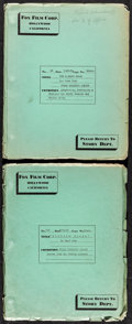 Movie Posters:Western, Zane Grey's The Rainbow Trail & Robbers' Roost (Fox Film Corp., 1931 & 1932). Final Shooting Scripts (2) (Multiple Pages, 9.... (Total: 2 Items)