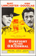"Movie Posters:Western, Gunfight at the O.K. Corral (Paramount, 1957). One Sheet (27"" X 41""). Western.. ..."