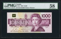 Canadian Currency, BC-61b $1000 1988.. ...