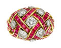 Estate Jewelry:Rings, Diamond, Ruby, Platinum, Gold Ring, Schlumberger for Tiffany & Co. . ...