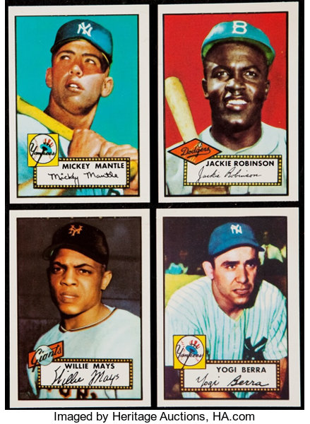 1983 Topps 1952 Topps 30th Anniversary Reprint Complete Set 402