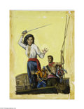 Original Illustration Art:Mainstream Illustration, AMERICAN ILLUSTRATOR (20th Century) Original Paperback Book CoverIllustration, c.1950 Pirate Wench by Frank Shay Oil ... (2 items)