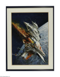 Original Illustration Art:Mainstream Illustration, JOHN BERKEY (American b.1934) Original Book Cover Illustration ToSave the Sun by Ben Bova and A.J. Austin. 1993 Acryl...