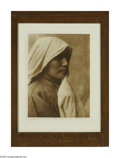 Original Illustration Art:Mainstream Illustration, EDWARD S. CURTIS (American, 1868-1952) A Taos Woman (plate 548)Vintage photogravure print on paper 15.5in. x 11.5in. ...