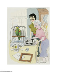 JOHN DEMPSEY (American 20th Century) Original Cartoon Illustration Playboy, February, 1956 Caption: 'You really hate t...