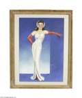 Original Illustration Art:Pin-up and Glamour Art, BILLY DE VORSS (American d.1985) Original Illustration Lady inWhite Gown Pastel on paper 42in. x 28in. Signed lower...
