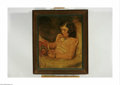 Paintings, JAMES MONTGOMERY FLAGG (American 1877-1960). Girl Reading. Oil on canvas. 31in. x 25.25in.. Signed lower right: James Montgo...