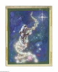 Original Illustration Art:Mainstream Illustration, KELLY FREAS (American 1922-2005) Original Illustration Ladder tothe Stars (DNA Helix) Acrylic on board 8in. x 6in. ...