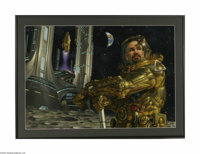 DONATO GIANCOLA (American 20th Century) Original Illustration Highrises: Cities on the Moon by Ray Bradbury Playboy, J...