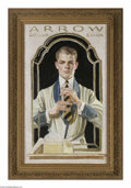 Original Illustration Art:Mainstream Illustration, JOSEPH CHRISTIAN LEYENDECKER (American 1874-1951) OriginalAdvertising Preliminary Preliminary painting for an Arrow Coll...