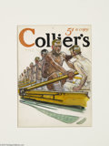Original Illustration Art:Mainstream Illustration, ORSON LOWELL (American 1871-1956) Original Magazine CoverPreliminary Illustration Collier's Gouache on paper 6in. x ...