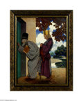 Original Illustration Art:Mainstream Illustration, MAXFIELD PARRISH (1870-1966) The King and the Chancellor at theKitchen Door from Knave of Hearts, 1925 Vintage print on ...
