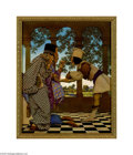 Original Illustration Art:Mainstream Illustration, MAXFIELD PARRISH (American 1870-1966) The King Tastes the Tartsfrom Knave of Hearts, 1925 Vintage print on paper 12in....