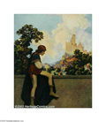 Original Illustration Art:Mainstream Illustration, Maxfield Parrish (1870-1966) Vintage Print (1925).. ThePage, for The Knave of Hearts by Louise Saunders (pg. 43), H...