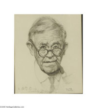 NORMAN ROCKWELL (American 1894-1978) Original Illustration Pencil on paper 12in. x 10in. Initialed lower right: N.R