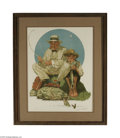 Fine Art:Paintings, NORMAN ROCKWELL (American 1894- 1978) Catching the Big OneLithograph on paper 34.5in. x 26.5in. Signed lower right Art...