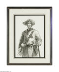 Paintings, CHARLES SHAW (American . Mountain Man. Charcoal drawing on paper. 13.5in. x 9.5in.. Signed lower left. Condition Report: O... (Total: 1 Item Item)
