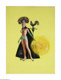 Original Illustration Art:Pin-up and Glamour Art, REN WICKS (American 1911-1998) Original Pin-Up Illustration Acrylicon board 30in. x 22in. (sight size) Signed lower...