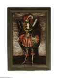 Fine Art:Paintings, EUROPEAN SCHOOL (18th Century) Angel in Armor Oil on canvas 29in. x18.75in. Condition Report: Painting has been cut f...