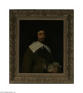 Fine Art:Paintings, DUTCH SCHOOL (19th Century) Portrait of a Nobleman Oil on canvas30in. x 25in. Condition Report: Canvas has old wax li...