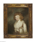 Fine Art:Paintings, ENGLISH SCHOOL (19th Century) Portrait of a Young Lady Oil oncanvas 30in. x 24in. Condition Report: Canvas has very o...