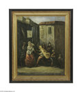 Fine Art:Paintings, ITALIAN SCHOOL (19th Century) Gypsies Oil on canvas 24.5in x 20in.Signed indistinctly lower right Condition Report: ...