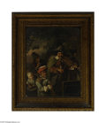 Fine Art:Paintings, DUTCH SCHOOL (19th Century) Musicians Oil on canvas 15.5in. x 12in.Condition report: Unlined original canvas, small s...