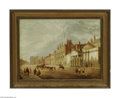 Fine Art:Paintings, ENGLISH SCHOOL (19th Century) Melbourne House, London Oil on canvas18in. x 23.5in. Label on reverse inscribed 'Whitehal...