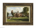 Fine Art:Paintings, ENGLISH SCHOOL (19th Century) English Manor House Oil on canvas16.25in. x 24in. Signed and dated 'Robt. E. Buckley, 189...